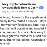 superb iloilo car rental family van self drive